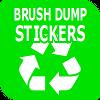 Brush & Dump Stickers